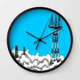 San Francisco - Sutro Tower (blue sky) Wall Clock