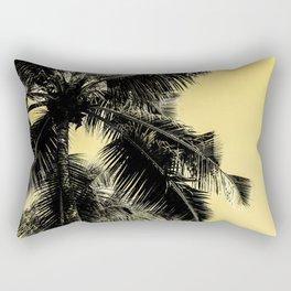 High palms poster in yellow Rectangular Pillow