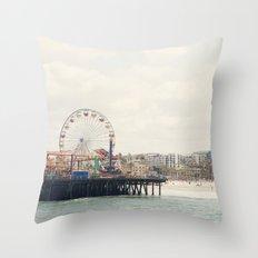 Santa Monica Pier. Happy Birthday Pacific Park!  Throw Pillow