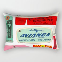 Vintage Luggage Tags 2 Rectangular Pillow