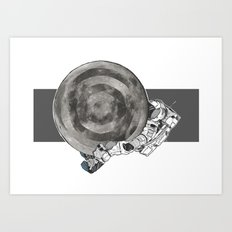 Troubled Moons and Spacemen Art Print