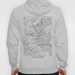Dusseldorf Map White Hoody