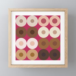 Breast Wishes (pink) Framed Mini Art Print