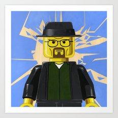 LEGO - Walter White Minifigure Art Print