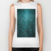 fault Biker Tanks featuring One by One, the Infinite Stars Blossomed by soaring anchor designs