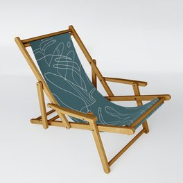 Monstera No2 Teal Sling Chair