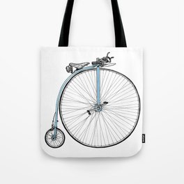 Blue Penny Farthing Tote Bag