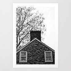 Farm House Tree Tops Art Print