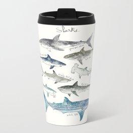 Sharks Metal Travel Mug