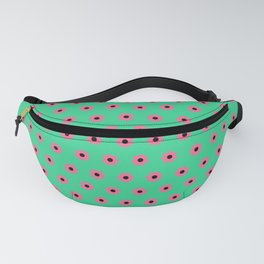 Pink Daisies on Mint Green Fanny Pack