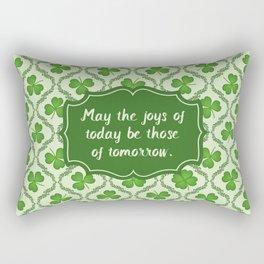 Irish Blessing Shamrocks Pattern Rectangular Pillow