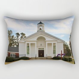 Church At The Lake Rectangular Pillow