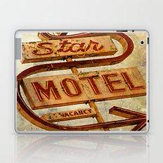 Vintage Grunge Motel Sign Laptop & iPad Skin