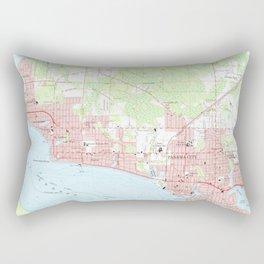 Vintage Map of Panama City Florida (1956) Rectangular Pillow