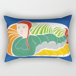 Fishy Girl Rectangular Pillow