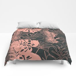 Tropical pattern 034 Comforters