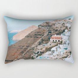 Whitewashed | Santorini, Greece Rectangular Pillow
