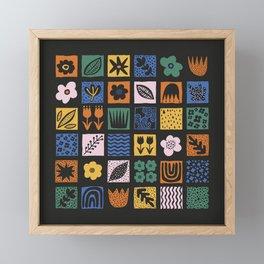 Shapes & Plants VI Framed Mini Art Print