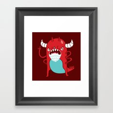 Monster Nagging Framed Art Print