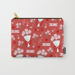 Valentine's Day Love and Bouquets Carry-All Pouch