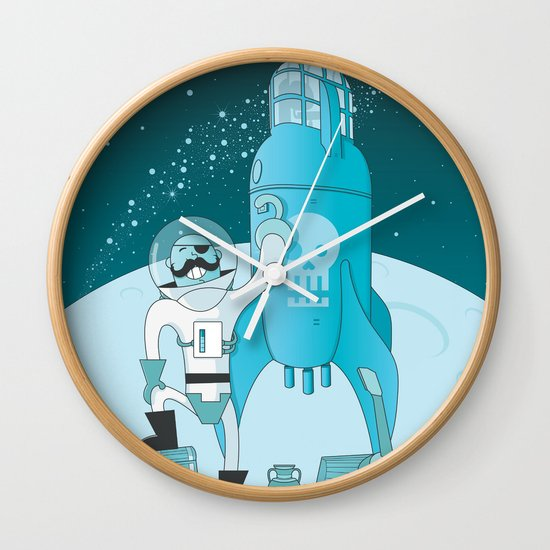 Space Pirate! Wall Clock