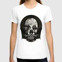 T-shirts featuring Room Skull B&W by Ali GULEC