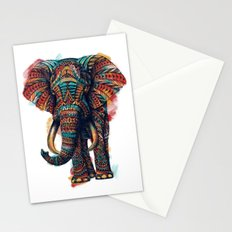 Ornate Elephant (Watercolor) Stationery Cards