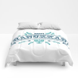 The first day of Hanukkah Comforters