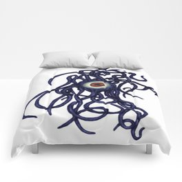 Evil Eye Halloween Creature Vector Comforters