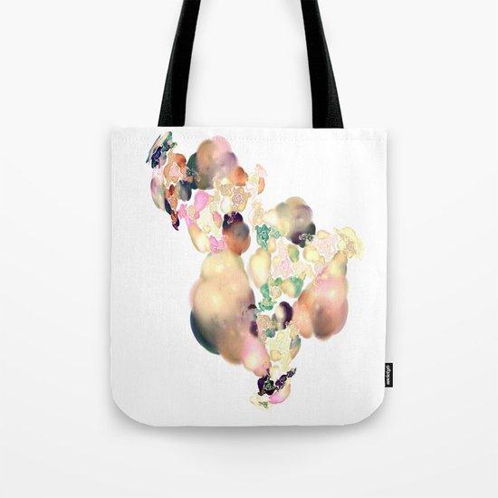 love space flowers Tote Bag