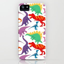 Dinosaur Domination - Light iPhone Case
