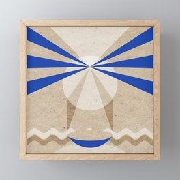 Textured visitor Framed Mini Art Print
