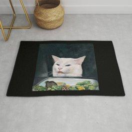 Woman Yelling at Cat Meme-4 Rug