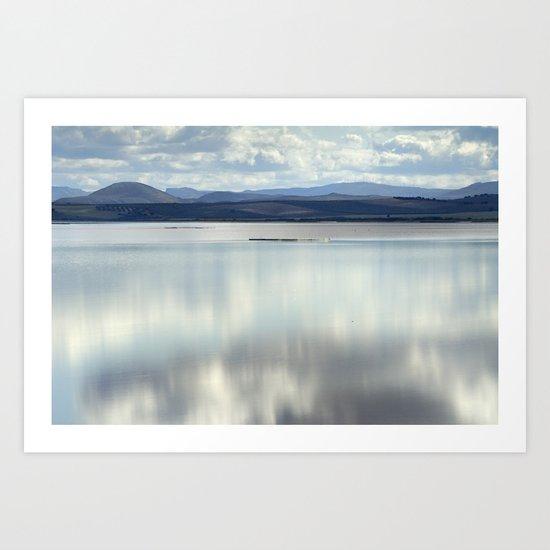 Magical waters at the lake Art Print