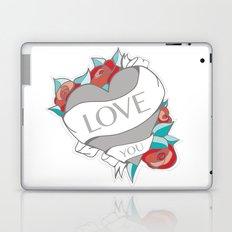 Heart Tattoo pattern Laptop & iPad Skin