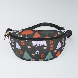 Bear forest at night Fanny Pack