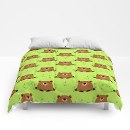 Adorable Groundhog Pattern Comforters