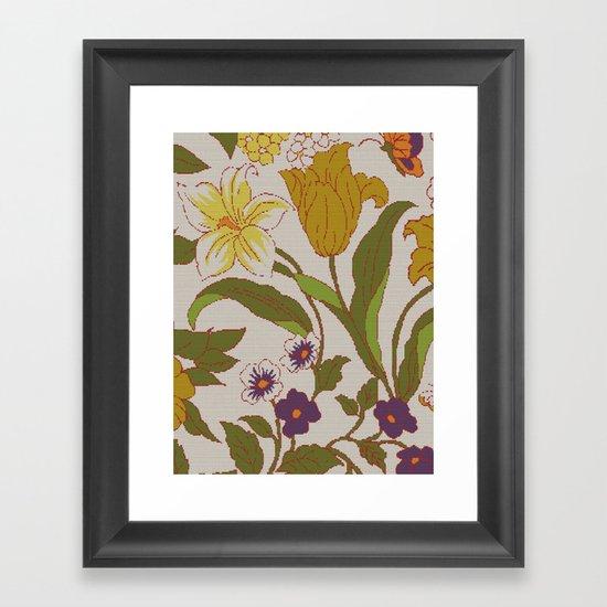 flower knit Framed Art Print
