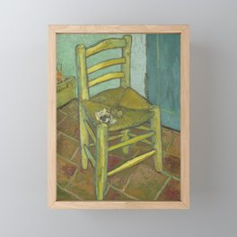 Van Gogh's Chair Framed Mini Art Print