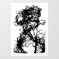 Runners Run Art Print