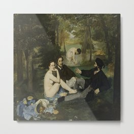 Edouard Manet's Luncheon on the Grass Metal Print