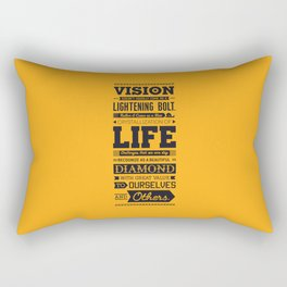 Lab No. 4 Vision Does Usually Dr. Michael Norwood Life Motivational Quotes Rectangular Pillow