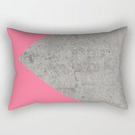 Fashion Pink on Concrete Rectangular Pillow