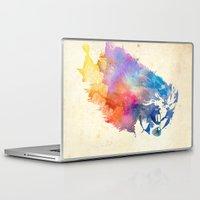 lion Laptop & iPad Skins featuring Sunny Leo   by Robert Farkas