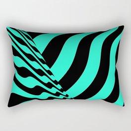 sudden change. minty Rectangular Pillow