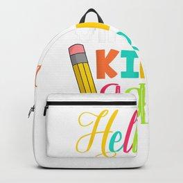 Funny Hello Virtual Kindergarten Gift Back to School 2020 Backpack