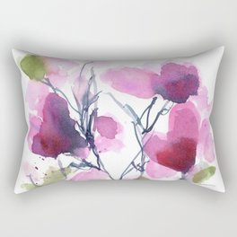 Pink Heart Petals Rectangular Pillow