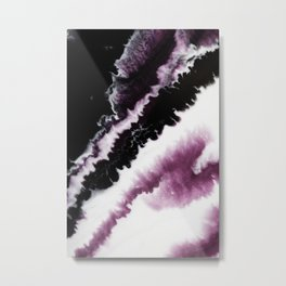 Fluid Expressions - Purple Burst Metal Print