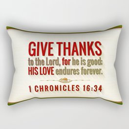 Give Thanks Rectangular Pillow