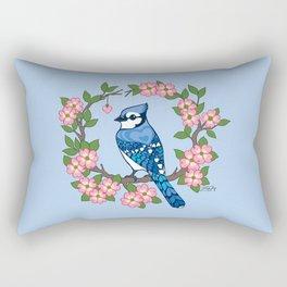 Chevron Hearts Blue Jay Rectangular Pillow